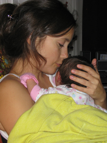 annie and baby